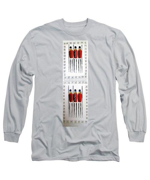Abstract Masai Warriors Long Sleeve T-Shirt