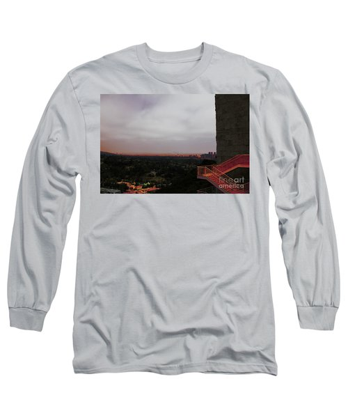Abstract Mixed Media Getty View Los Angeles California  Long Sleeve T-Shirt