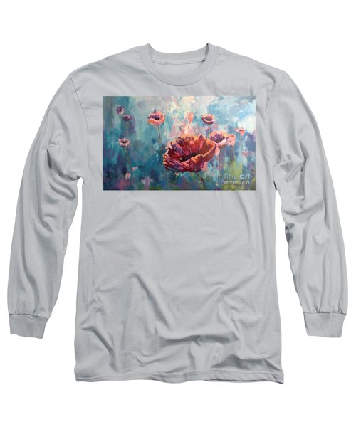 Abstract Poppy Long Sleeve T-Shirt