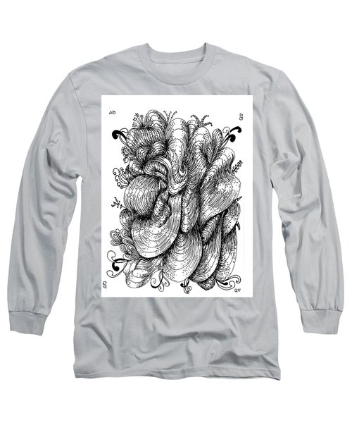 Abstract Long Sleeve T-Shirt by Quwatha Valentine
