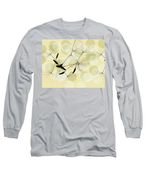 Abstract Botanical Long Sleeve T-Shirt