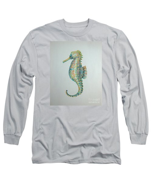 Abstract Seahorse Long Sleeve T-Shirt by Tamyra Crossley