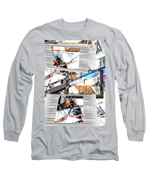 Abstract Triptych Long Sleeve T-Shirt