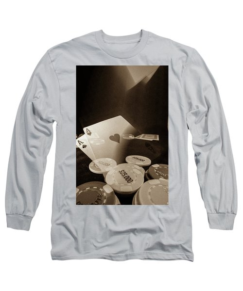 Aces Up Long Sleeve T-Shirt by Mark Dunton