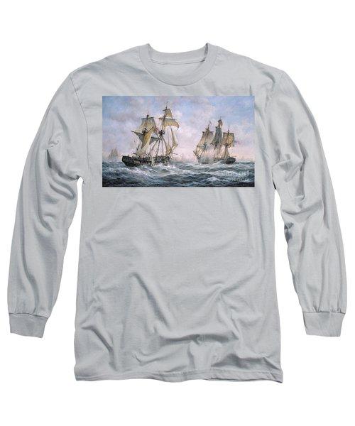 Action Between U.s. Sloop-of-war 'wasp' And H.m. Brig-of-war 'frolic' Long Sleeve T-Shirt