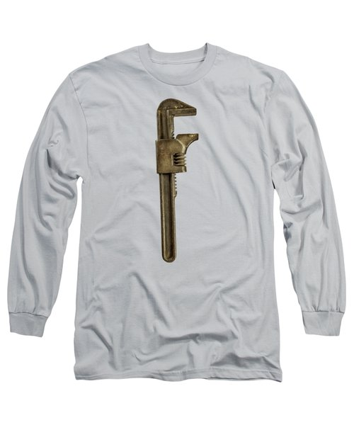 Adjustable Wrench Backside Long Sleeve T-Shirt by Yo Pedro