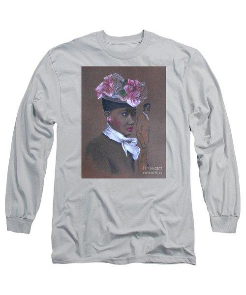 Admirer, 1947 Easter Bonnet -- The Original -- Retro Portrait Of African-american Woman Long Sleeve T-Shirt