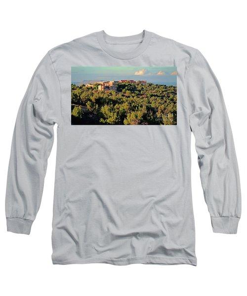 Long Sleeve T-Shirt featuring the photograph Adobe Homestead Santa Fe by Diana Mary Sharpton