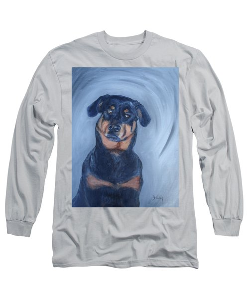 Long Sleeve T-Shirt featuring the painting Adrian by Donna Tuten