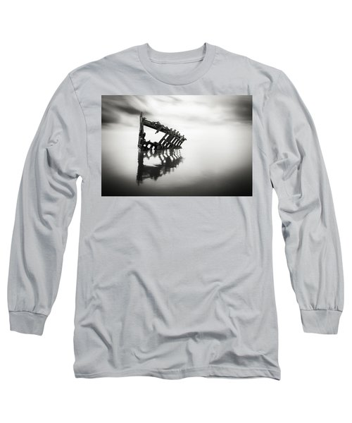 Adrift At Sea In Black And White Long Sleeve T-Shirt