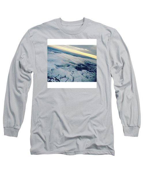 Edinburgh Winter Sunset Long Sleeve T-Shirt by Patsy Jawo