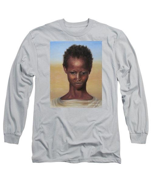 Long Sleeve T-Shirt featuring the painting Africa by Annemeet Hasidi- van der Leij