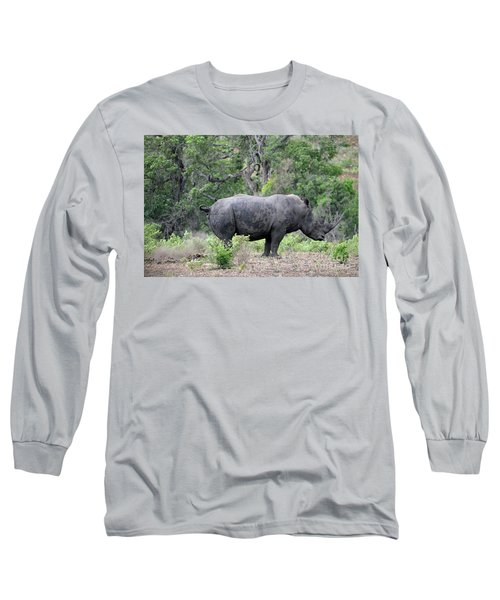 African Safari Naughty Rhino Long Sleeve T-Shirt