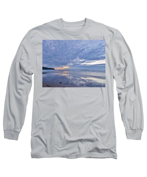 Moonlight After Sunset Long Sleeve T-Shirt by Michele Penner