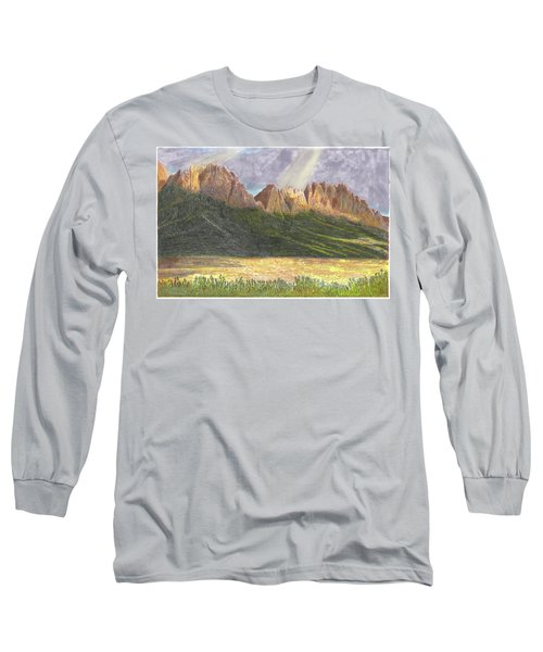 Long Sleeve T-Shirt featuring the painting After The Monsoon Organ Mountains by Jack Pumphrey