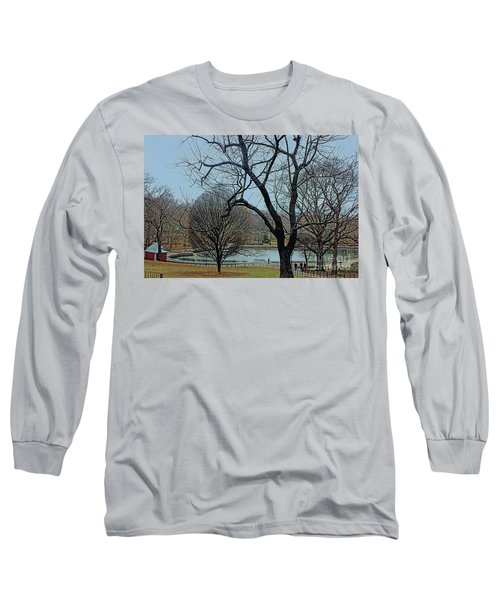 Afternoon In The Park Long Sleeve T-Shirt by Sandy Moulder