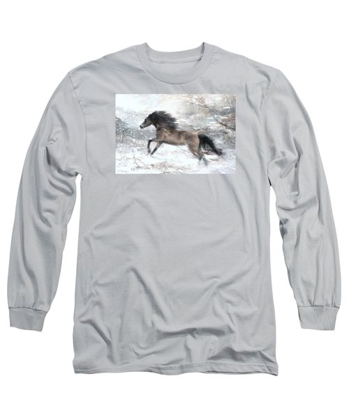 Long Sleeve T-Shirt featuring the digital art Against The Wind by Dorota Kudyba