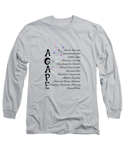 Agape-words Of Love Long Sleeve T-Shirt