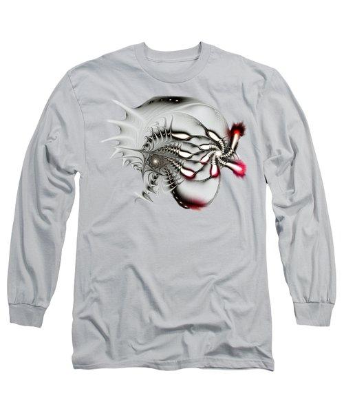 Aggressive Grey Long Sleeve T-Shirt