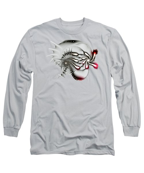 Aggressive Grey Long Sleeve T-Shirt