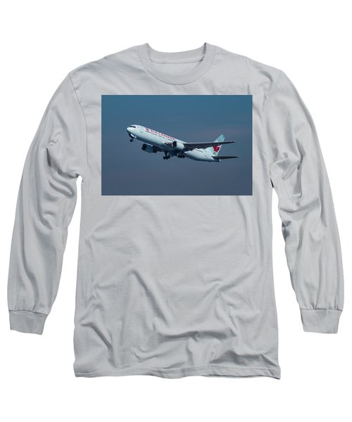 Air Canada Boeing 767 Taking Off From Lax Long Sleeve T-Shirt