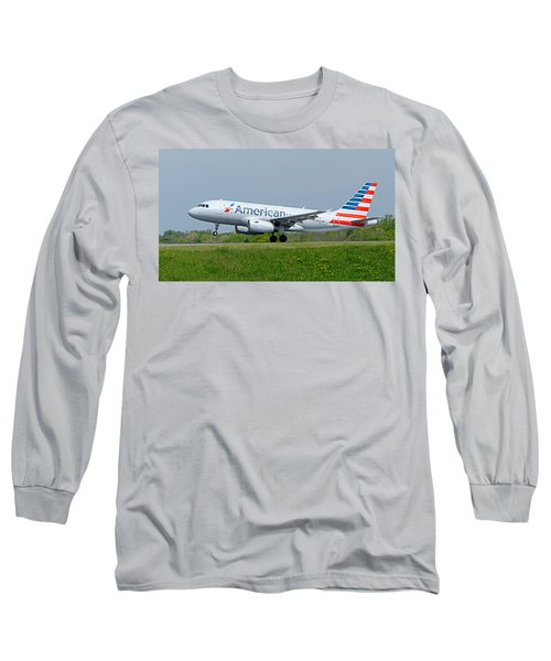 Airbus A319 Long Sleeve T-Shirt by Guy Whiteley