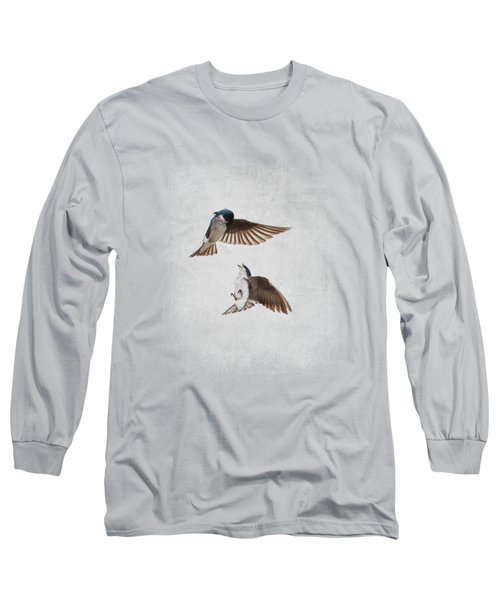 Airobatics - Tree Swallows Long Sleeve T-Shirt by Jai Johnson