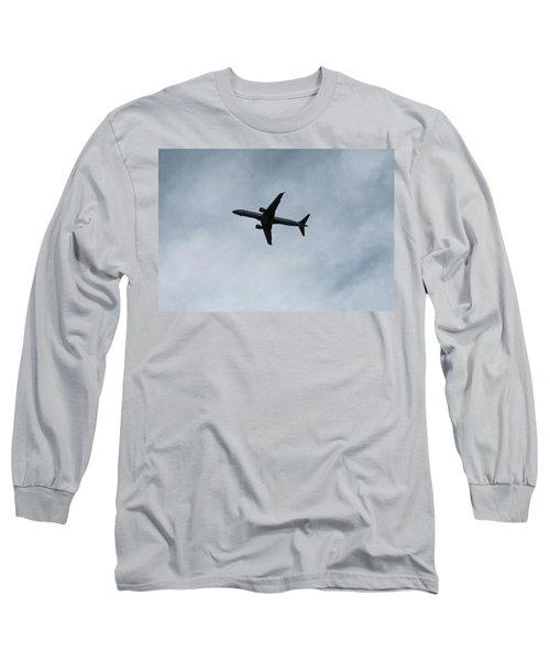 Airplane Silhouette Long Sleeve T-Shirt