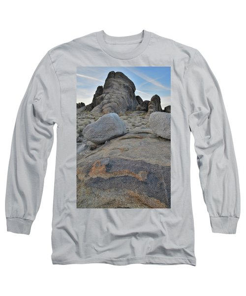 Alabama Hills Boulders At Dusk Long Sleeve T-Shirt