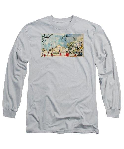 Alamo San Antonio Long Sleeve T-Shirt by Becky Kim