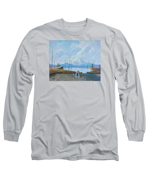 Long Sleeve T-Shirt featuring the painting Alaskan Atm by Richard Faulkner