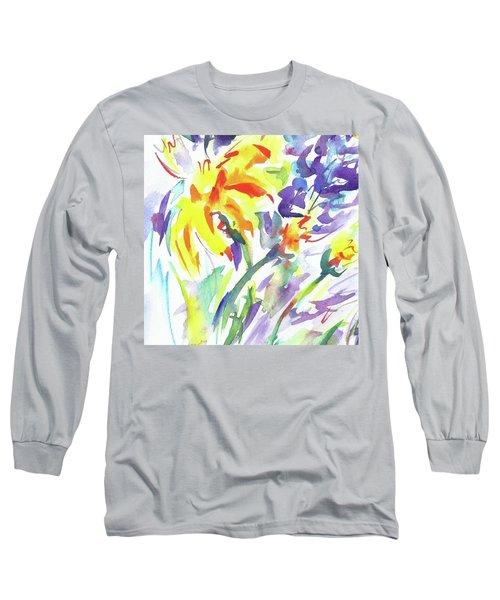 Alaskan Wildflowers Long Sleeve T-Shirt