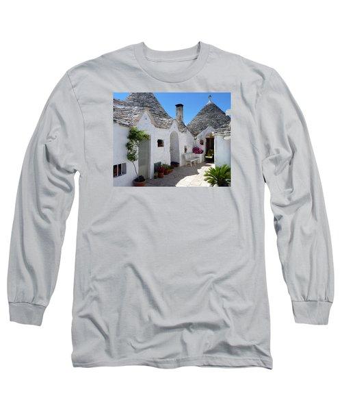 Alberobello Courtyard With Trulli Long Sleeve T-Shirt