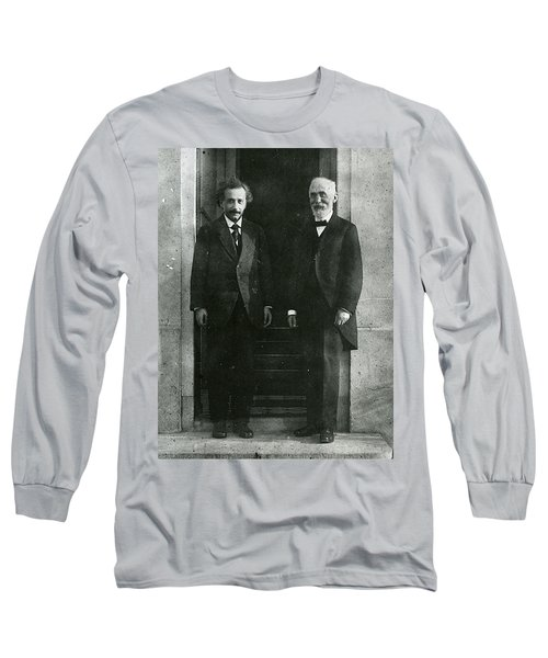 Albert Einstein And Hendrik Antoon Lorentz Long Sleeve T-Shirt