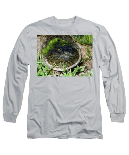 Long Sleeve T-Shirt featuring the photograph Algae Face Common Snapper by Rockin Docks Deluxephotos