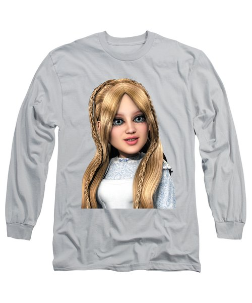 Long Sleeve T-Shirt featuring the painting Alice Portrait by Methune Hively