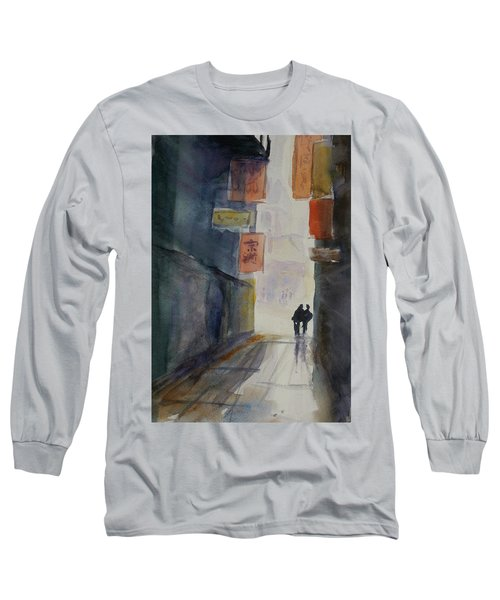 Alley In Chinatown Long Sleeve T-Shirt by Tom Simmons