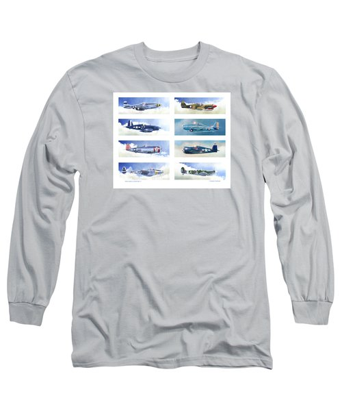 Allied Fighters Of The Second World War Long Sleeve T-Shirt by Douglas Castleman