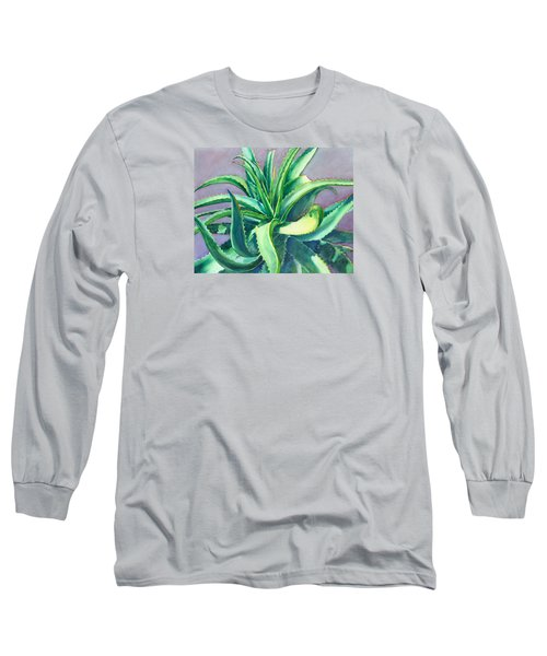 Aloe Vera Watercolor Long Sleeve T-Shirt