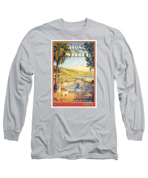Along The Malibu Long Sleeve T-Shirt by Nostalgic Prints