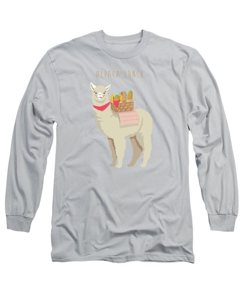 Alpaca Lunch Long Sleeve T-Shirt by Little Bunny Sunshine