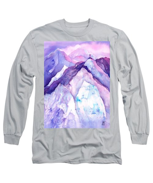 Alpenglow In The Alps Long Sleeve T-Shirt