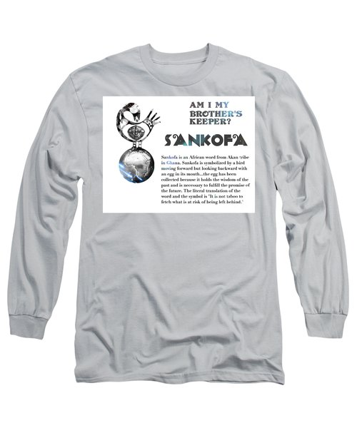 Am I My Brother's Keeper? Silver Long Sleeve T-Shirt