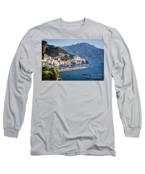 Long Sleeve T-Shirt featuring the photograph Amalfi Harbor by Scott Kemper