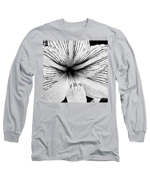 Amaryllis Black And White Long Sleeve T-Shirt