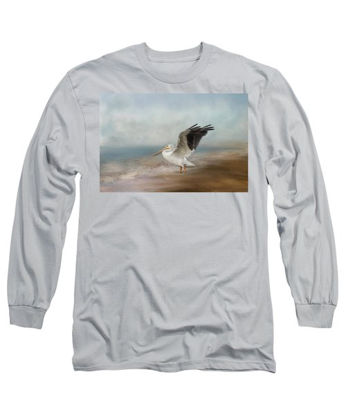 Long Sleeve T-Shirt featuring the photograph Amble Along The Shore by Kim Hojnacki