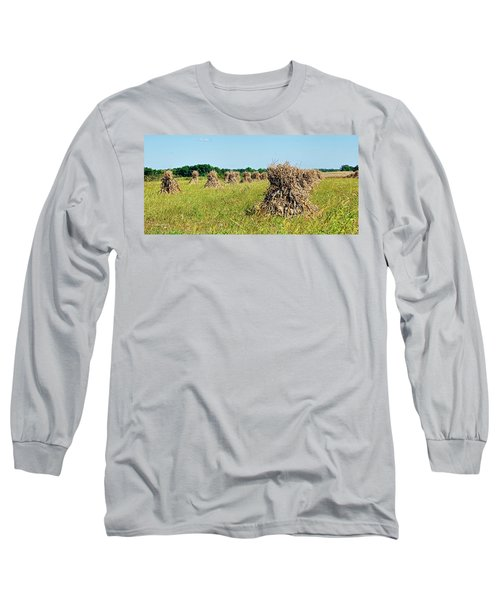 Long Sleeve T-Shirt featuring the photograph Amish Harvest by Cricket Hackmann