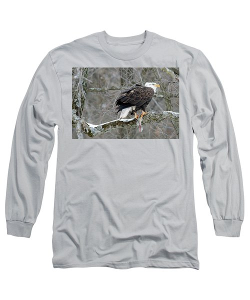 An Eagles Catch Long Sleeve T-Shirt by Brook Burling