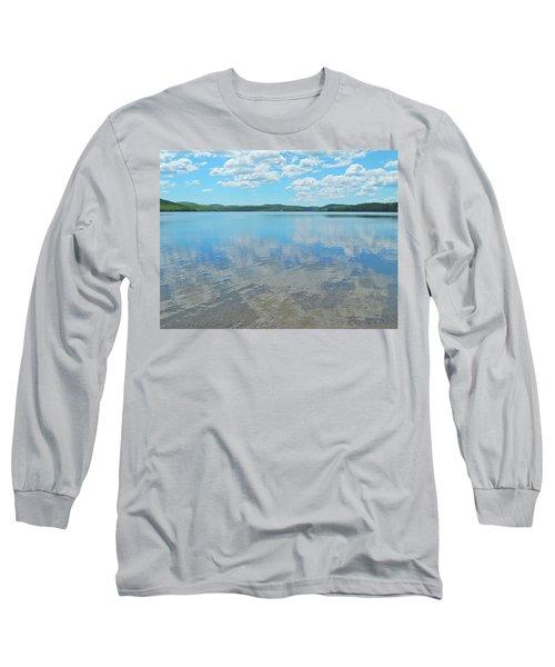 Anasagunticook Lake, Canton, Me, Usa 10 Long Sleeve T-Shirt by George Ramos