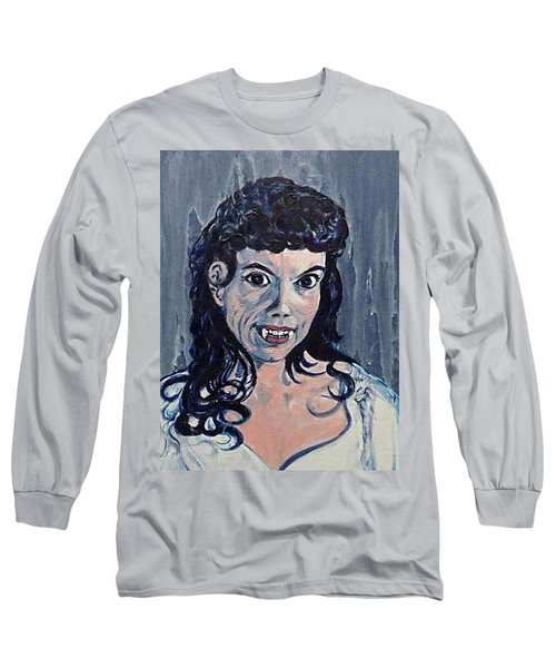 Andree Melly As Gina In The Brides Of Dracula  Long Sleeve T-Shirt